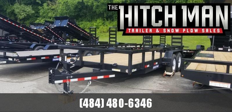 7 x 18 Sure-Trac Heavy Duty Equipment Trailer 14k