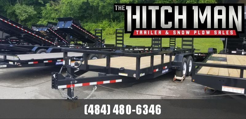 7 x 18 Sure-Trac Heavy Duty Equipment Trailer 14k