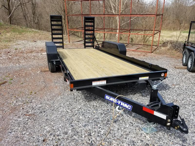 Sure-Trac 7 x 18  Skid Steer Equipment Trailer 14k