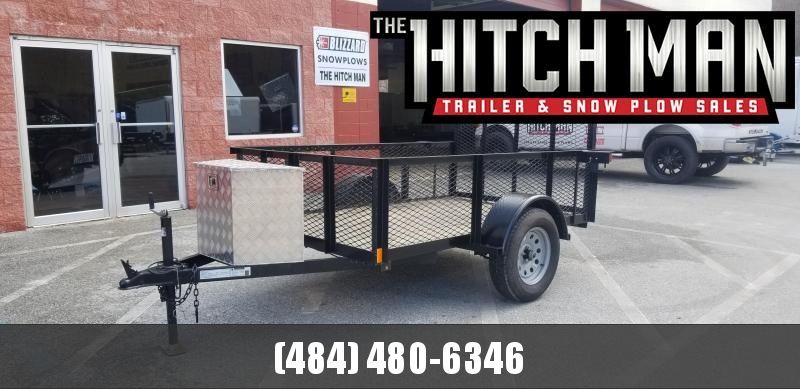 2018 Holmes 5x8 Holmes 2' Mesh Sides 3k Equipment Trailer