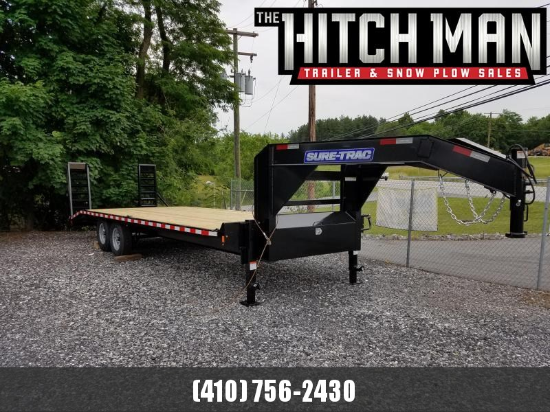 8.5 X 24 (20+4) Standard Duty Gooseneck Deckover Equipment Trailer 15K