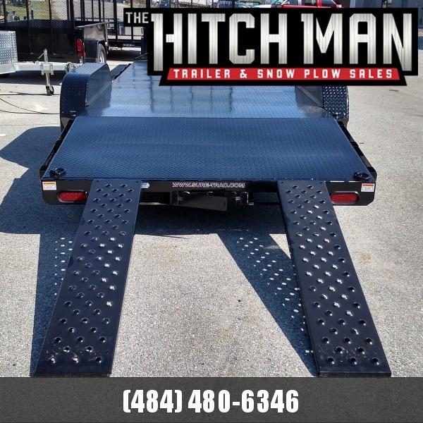 7 x 18 Sure-Trac  Steel Deck Car Hauler 7k