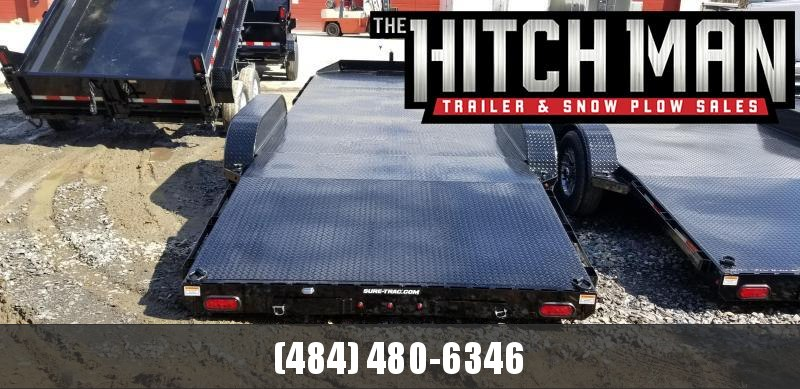 7 x 20 Sure-Trac Steel Deck Car Hauler  10k