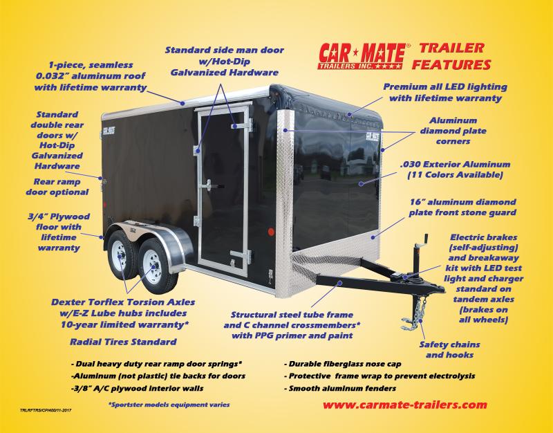 8.5 X 24 Car Mate Custom Car Trailer 10k