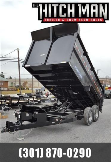 7 x 14 Sure-Trac High Side Dump Trailer 14k Scissor Hoist