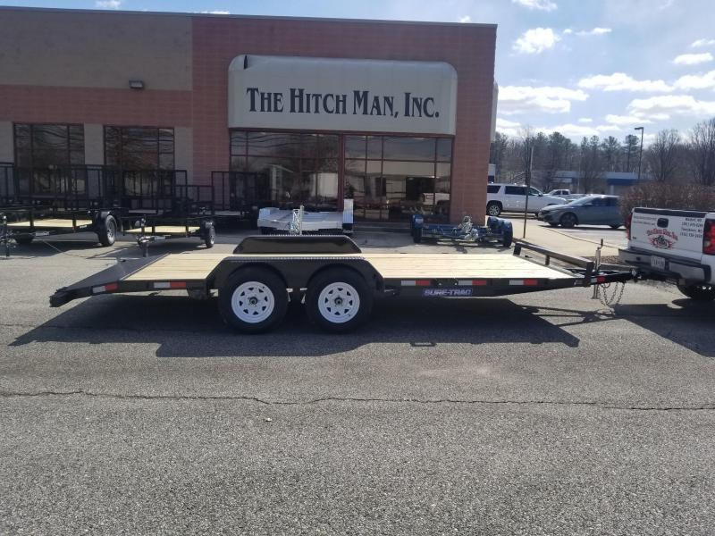 7 x 18 Sure-Trac 7k Wood Deck Car Hauler