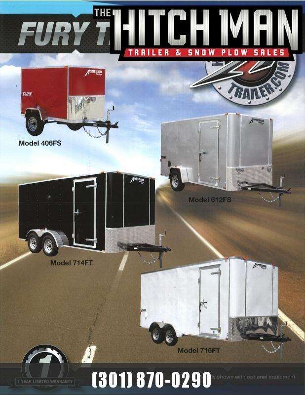 5 x 8 Homesteader Fury 3K Enclosed Cargo Trailer