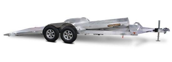 7 x 18 Aluma 8218 Aluminum Tilt Bed Car Trailer 7K