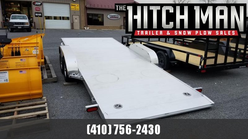 7 x 18 Aluma 8218 Aluminum Tilt Bed Car Trailer 7K