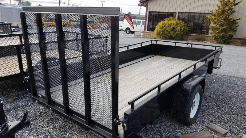 2018 Sure-Trac Used 6 x 12 Steel Side Utility Trailer 3K