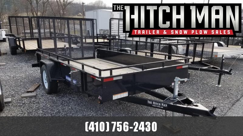 2018 Sure-Trac Used 6 x 12 Steel Side Utility Trailer 3K