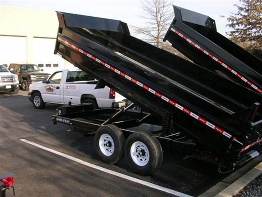 7 x 16 Sure-Trac 14k Dual-Ram Dump Trailer