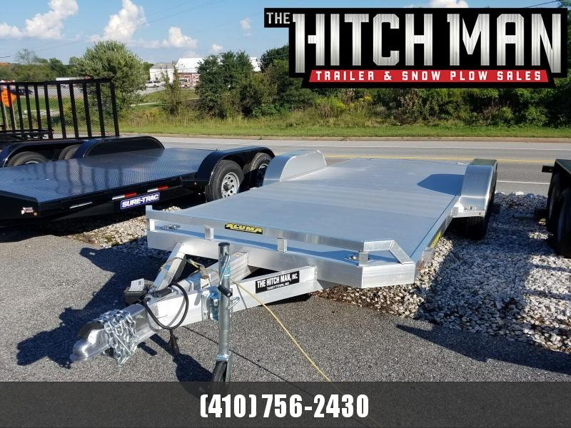 7 x 18 ALUMA Aluminum Car Trailer 7k