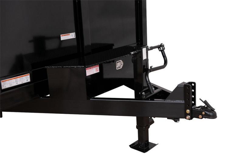 7 x 12 Sure-Trac 4' High Side Dump Trailer 14K Scissor Hoist