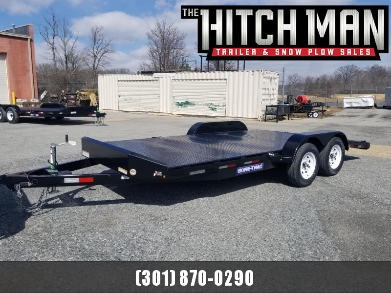 7 x 18 Sure Trac Steel Deck Car Hauler 7k