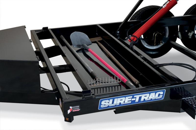 7 x 14 Sure-Trac Dual-Ram HD Dump Trailer 14k