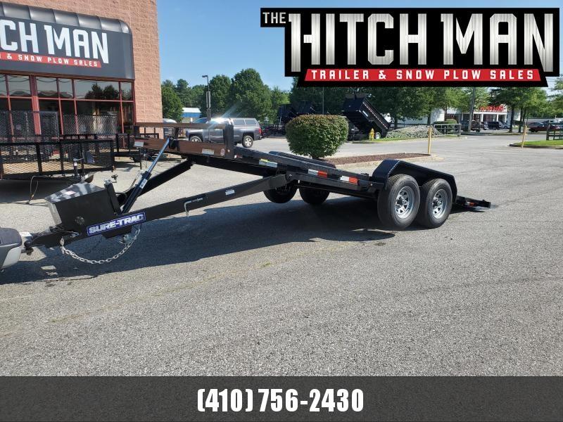 7 x 18 Sure Trac Power Tilt Steel Deck Car Hauler 10k