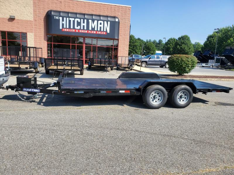 7 x 18 Sure Trac Power Tilt Steel Deck Car Hauler 10k