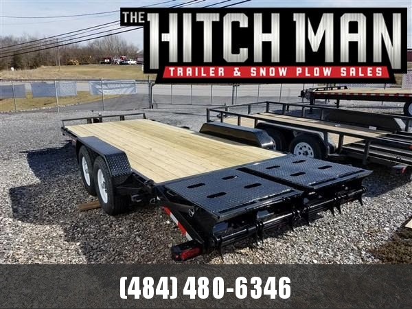 7 x 20 (17+3) Sure-Trac Universal Ramp Implement Trailer 14k