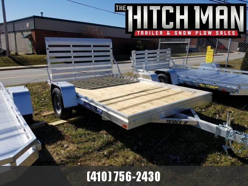 6.5' x 10' ALUMA Aluminum Wood Deck Utility Trailer 3k