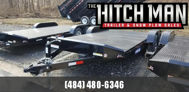 7 x 18 Sure-Trac  Steel Deck Car Hauler 10k