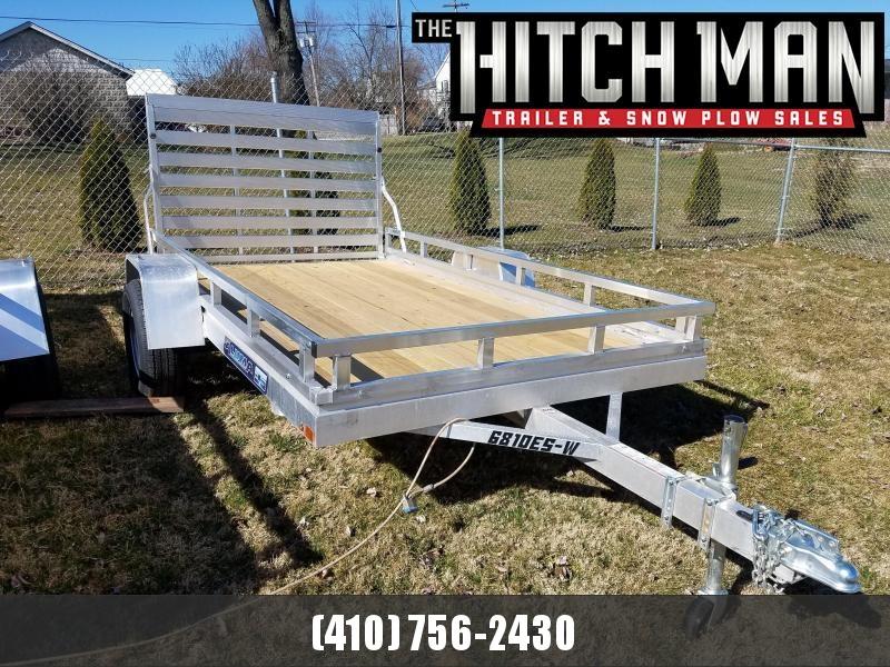 "5'8"" x 10' ALUMA Aluminum Wood Deck Utility Trailer 3k"