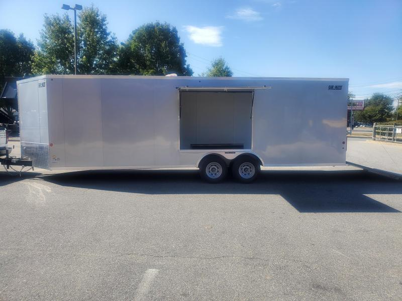 8 x 24 Car Mate V-Nose Custom Car Trailer 10k