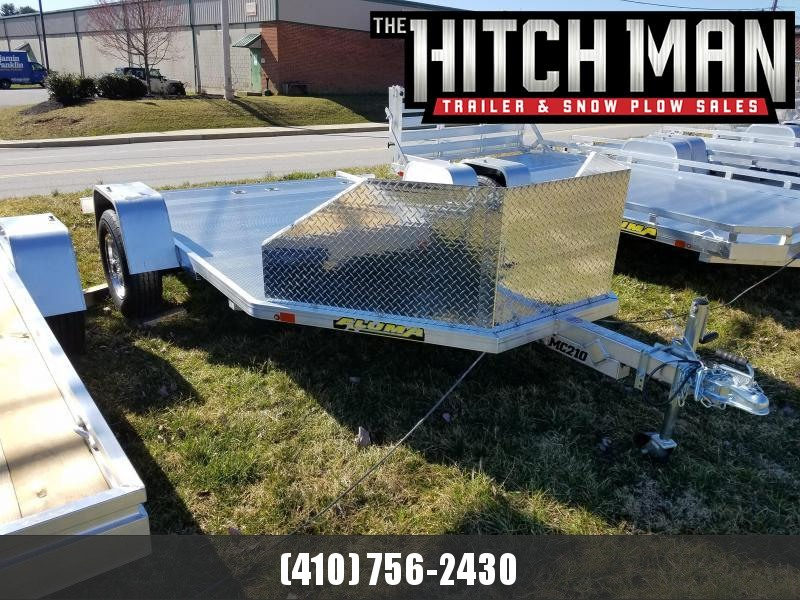 6.5' X 11' Aluma MC210 2 Place Motorcycle Trailer 3K