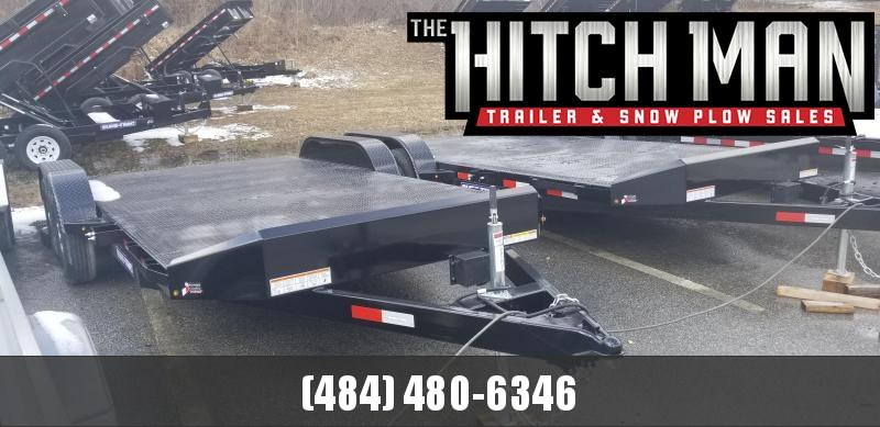 7 x 18 Sure-Trac  Steel Deck Car Hauler 7k