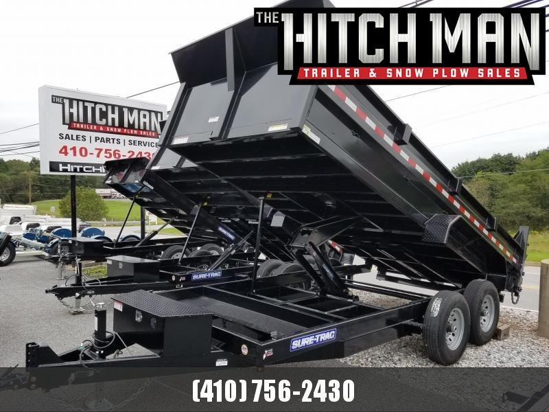 7 x 16 Sure-Trac Scissor-Hoist HD Dump Trailer 14k