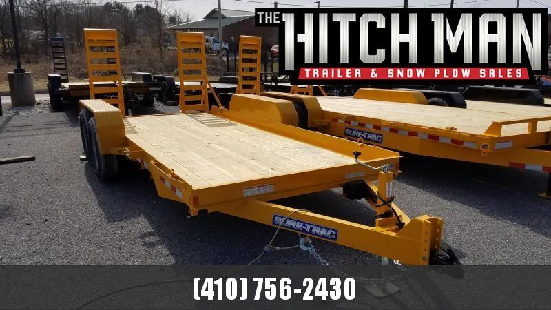 7 x 16 Sure-Trac Skid Steer Equipment Trailer 14K