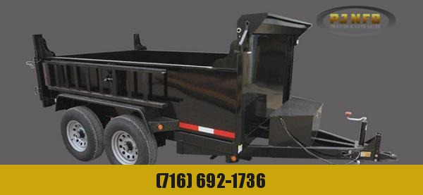 2020 Quality Steel and Aluminum 7210D10K 6 x 10 10K Low Profile Dump Dump Trailer