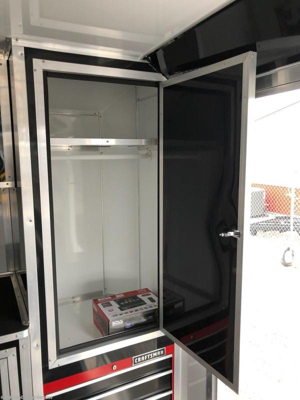 New 2019 Covered Wagon 8.5X28 ENCLOSED RACE TRAILER 7000 AXLES