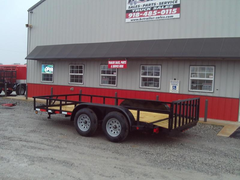 2019 Longhorn Trailers 77X14 2' DOVE 2' GATE Utility Trailer