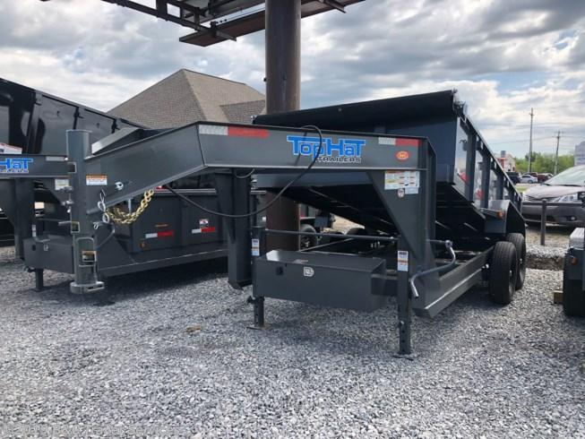 """New 2019 Top Hat 83""""X14' Gooseneck Dump Trailer 7000# Axles"""