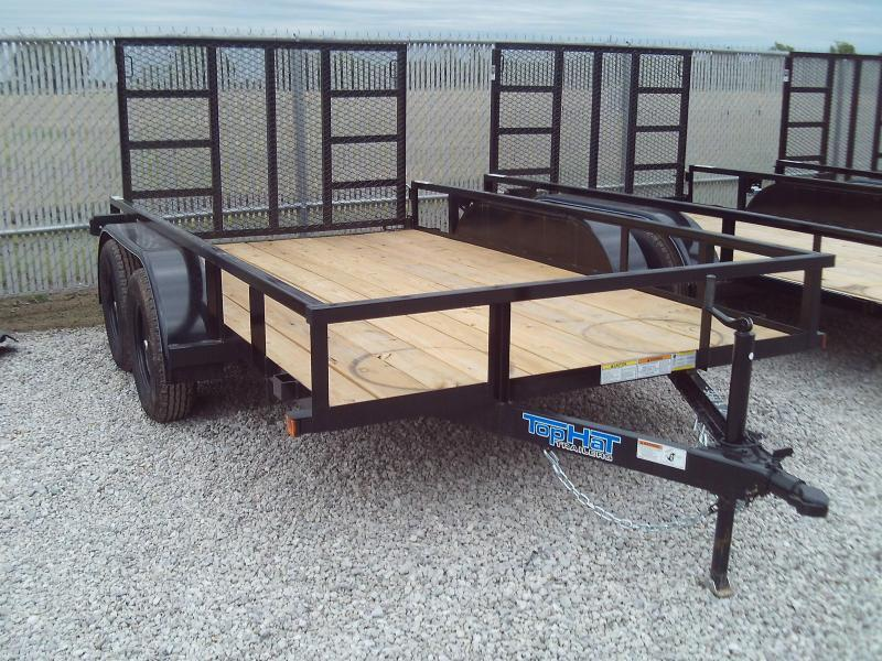 2020 Top Hat Trailers 2020 TOP HAT 77X12 TANDEM AXLE UTILITY TRAILER W\ 4' GATE Utility Trailer