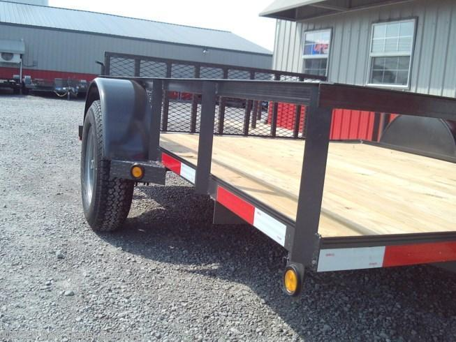 """New 2020 Longhorn Trailers 77""""X10' Utility Trailer w/2' Dove and 2' Gate"""