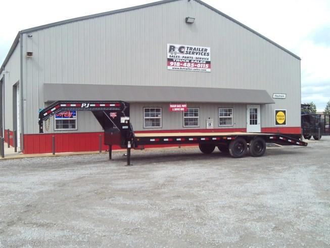 New 2019 PJ Trailers 25' Low Pro Flatbed w/Duals 8K Axles