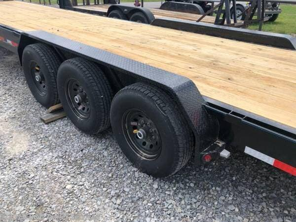 "New 2019 Top Hat 83""X40' Triple Axle Gooseneck Car Hauler 7000# Axles"