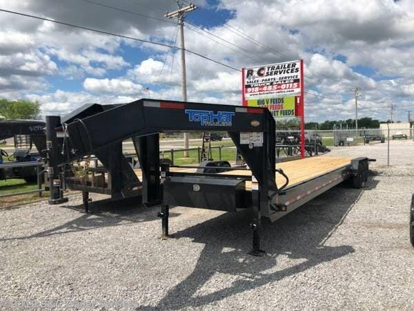 "$600 BELOW COST AT THIS PRICE.New 2019 Top Hat 83""X40' Triple Axle Gooseneck Equipment\ Car Hauler 7000# Axles"