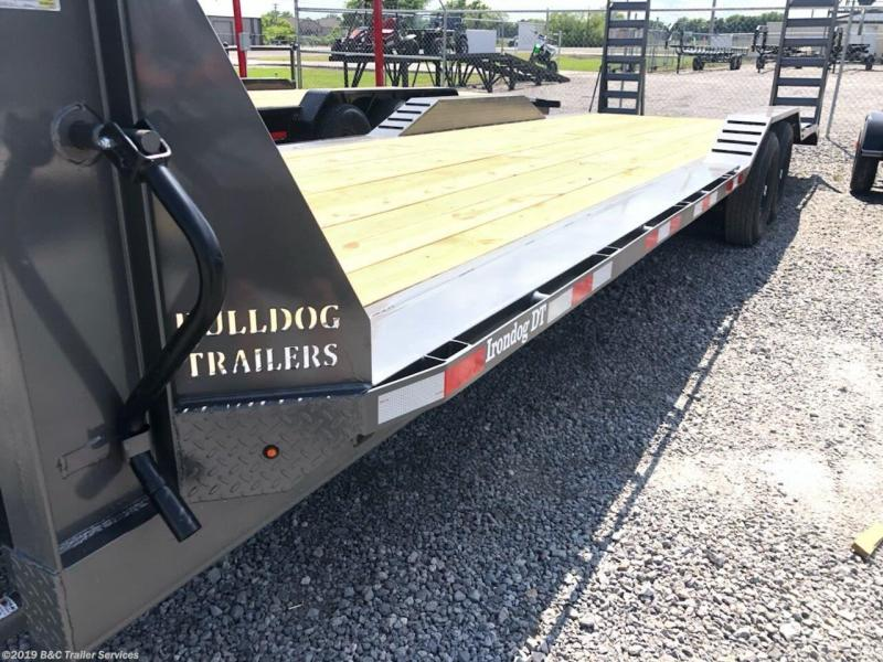 "New 2019 BC Bulldog 102""X26'+2' Drive Over Fender Trailer 7000# Axles"