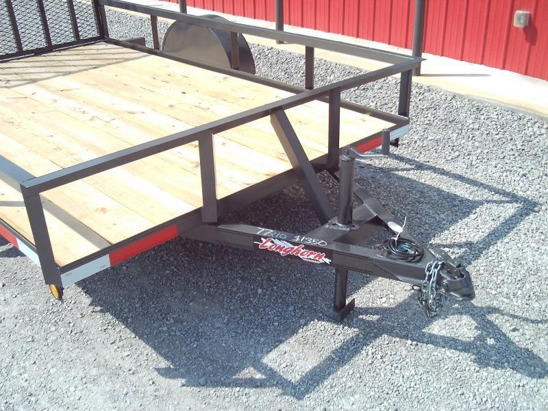 2020 Longhorn Trailers 77X10 4' GATE Utility Trailer