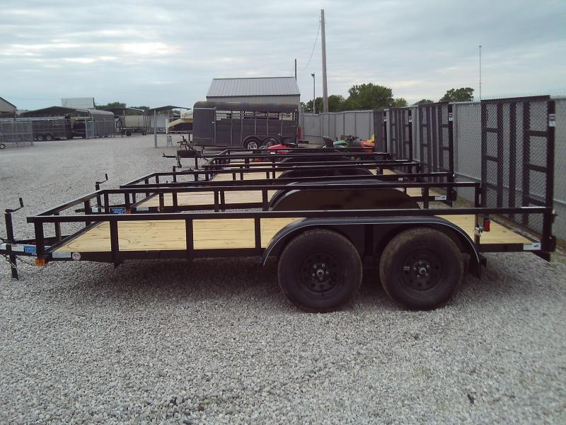 2020 Top Hat Trailers NEW 2020 77X14 TANDEM AXLE UTILITY TRAILER W\ 4' GATE Utility Trailer