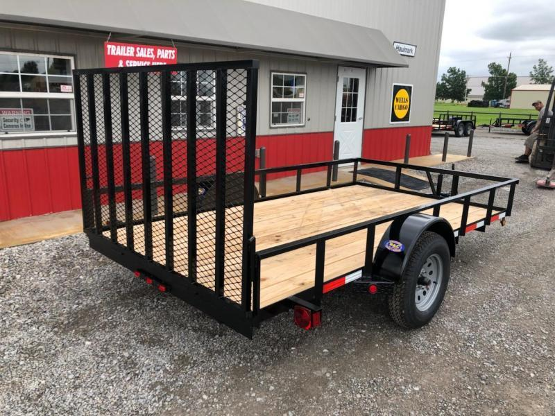 "New 2019B ""DISPLAY TRAILER""  Longhorn Trailers 77""X12' Utility Trailer w/4' Gate"