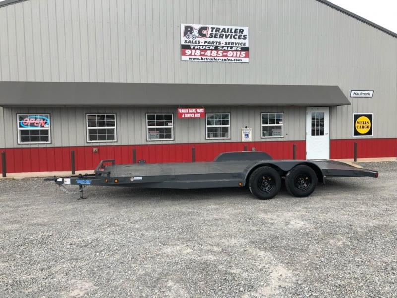 "New 2019 Top Hat 83""X20' All Steel Car Hauler 3500# Axles"