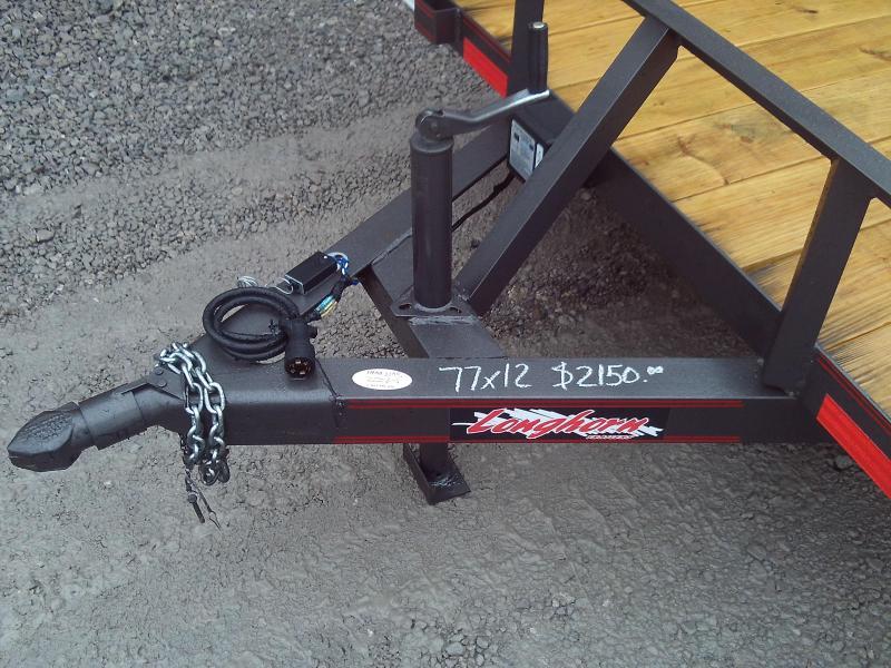 2020 Longhorn Trailers 77X12 4' GATE Utility Trailer
