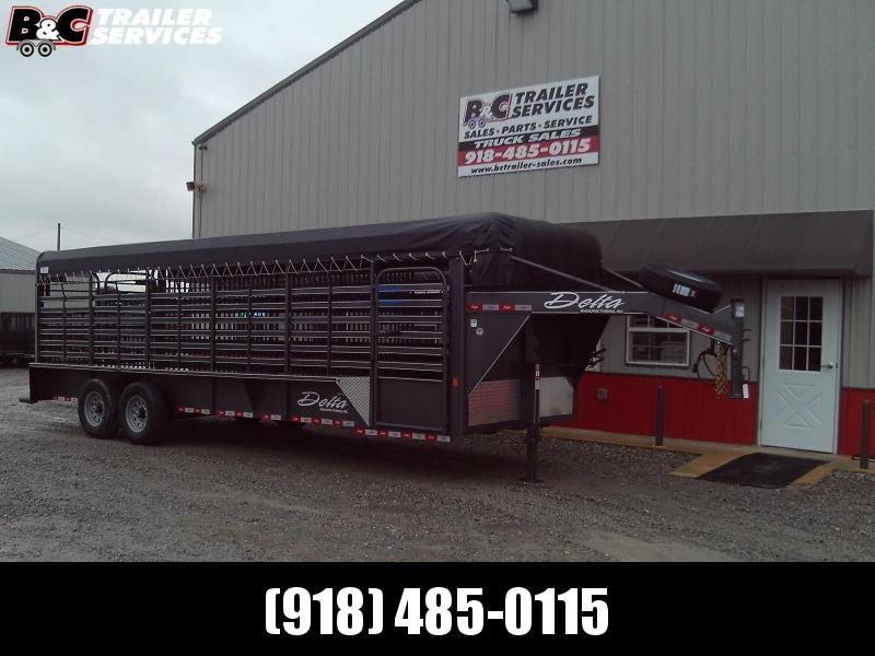 "2020 Delta Manufacturing 24 x 6'8"" 600 cattleman Horse Trailer"