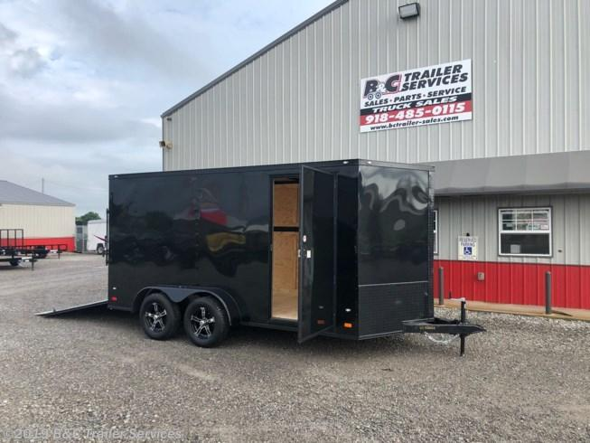 New 2019 Covered Wagon 7X16 ENCLOSED CARGO TRAILER - ALL BLACK OUT PACKAGE