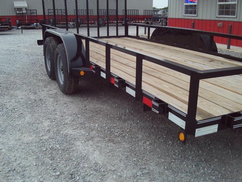 2020 Longhorn Trailers 77X16 4' GATE Utility Trailer