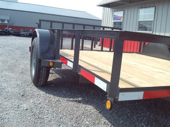"New 2020 Longhorn Trailers 77""X10' Utility Trailer w/2' Dove and 2' Gate"